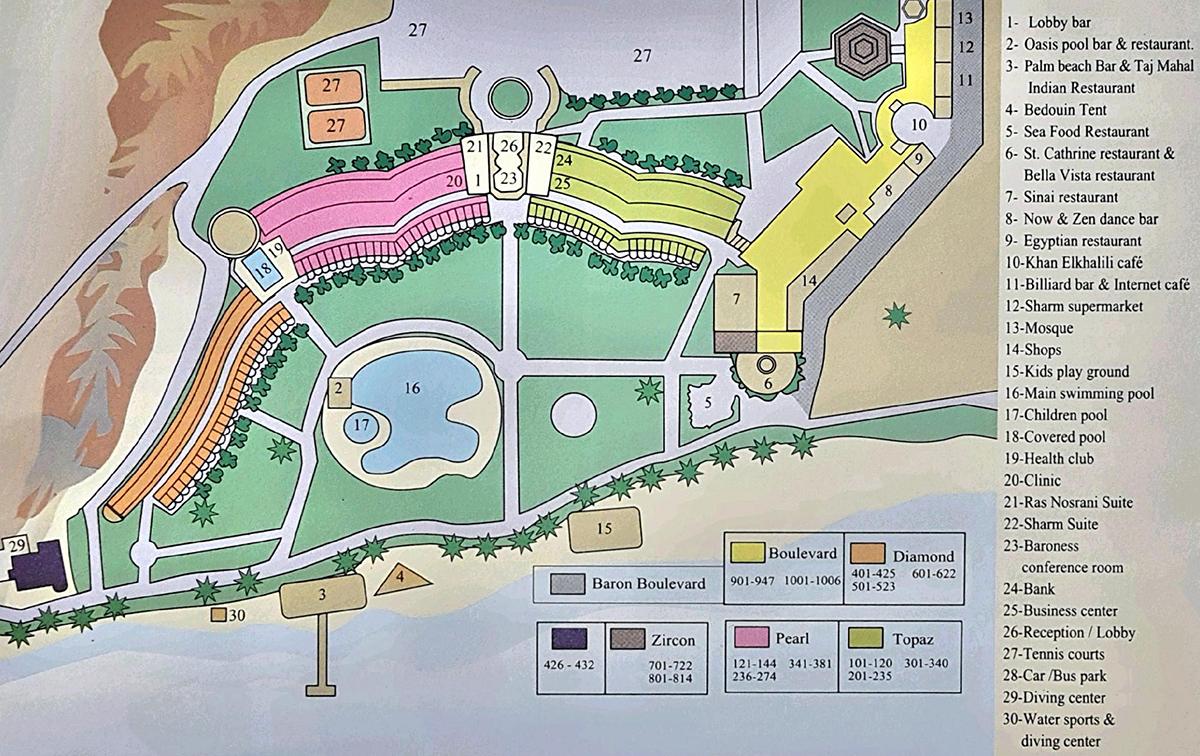 Карта отеля Baron Resort 5