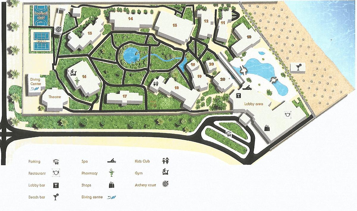 Карта отеля Jaz Belvedere 5