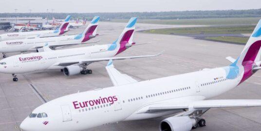 Европейский лоукостер Eurowings осенью начнет летать в Украину